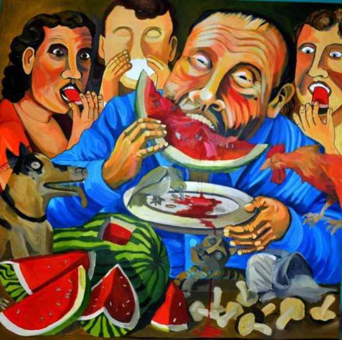 Красный арбуз никогда не падает. Автор: Leonardo Sepulveda.