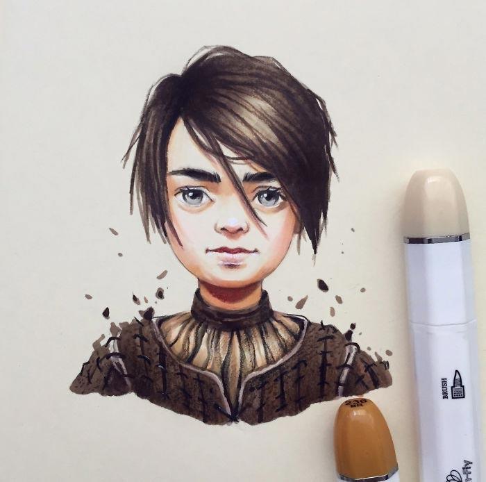 Арья Старк. Автор: Лера Кирякова.