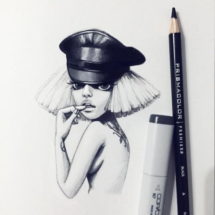 Леди Гага. Автор: Лера Кирякова.