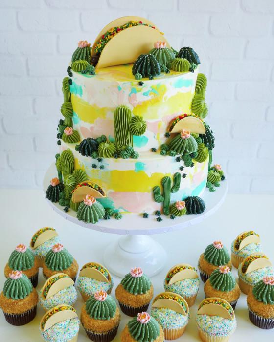 А вам бы хотелось попробовать такой торт? Автор: Leslie Vigil.