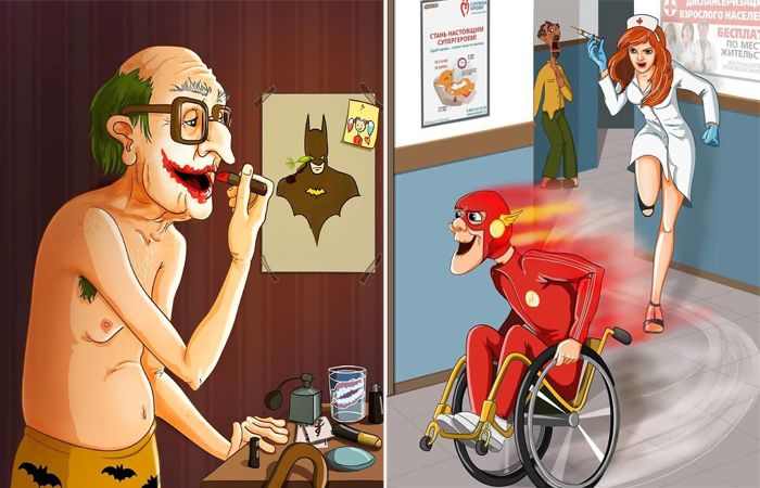 Супергерои на пенсии. Автор: Леся Гусева.