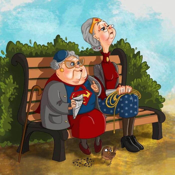 Супергёрл и Чудо-женщина. Автор: Леся Гусева.