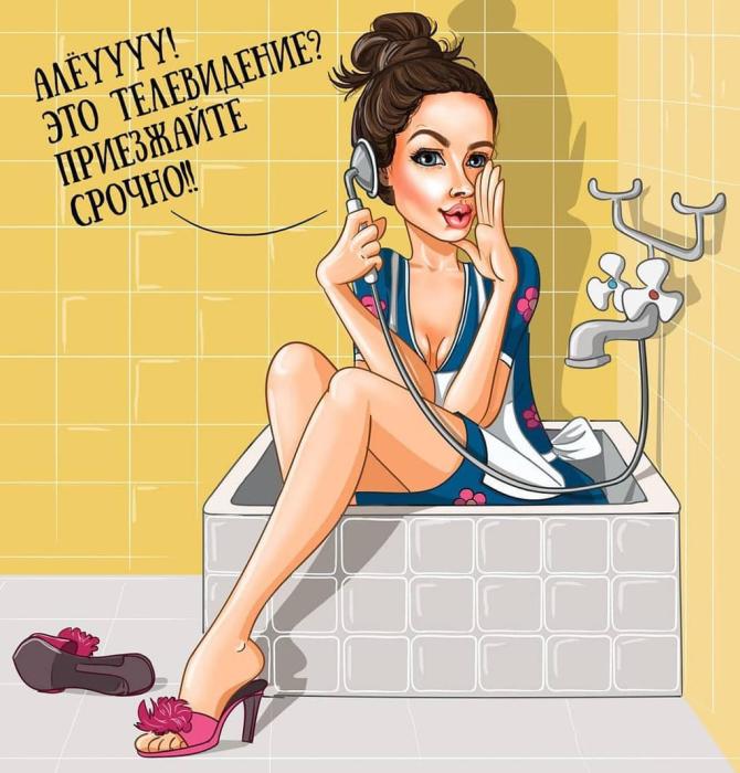 Наталья Краснова — Фрекен Бок из мультфильмов о Карлсоне. Автор: Леся Гусева.