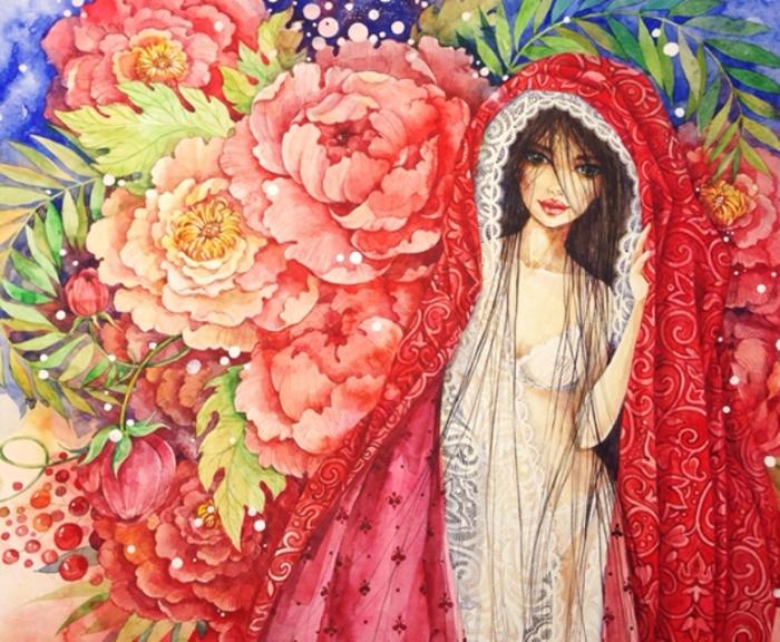 Цветущий сад. Автор: Леся Недзельская.