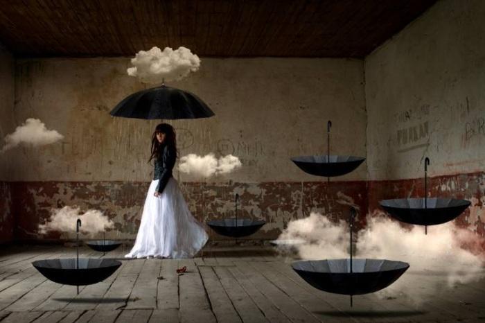 Волшебные зонтики. Автор работ: фотохудожник Лейла Эмектар (Leyla Emektar).