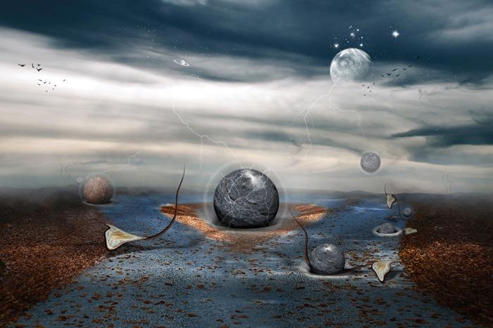 Неизведанная планета. Автор работ: фотохудожник Лейла Эмектар (Leyla Emektar).
