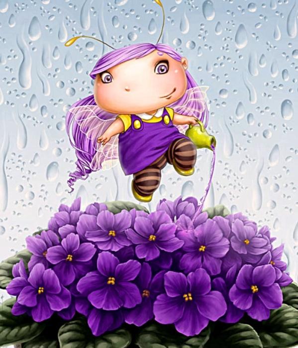 Капельки дождя. Автор: Lia Selina.