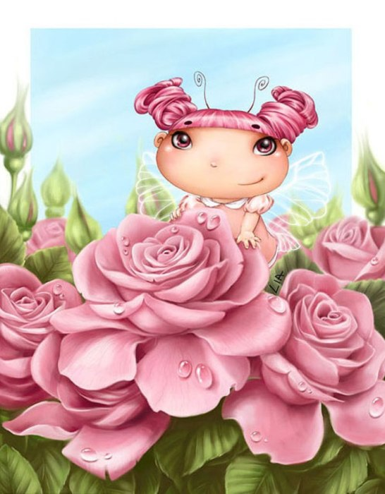 Розовый куст. Автор: Lia Selina.