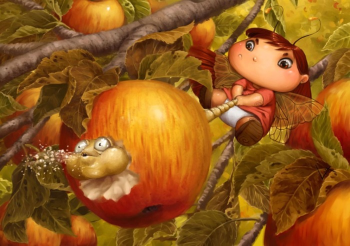 Спелое яблоко. Автор: Lia Selina.