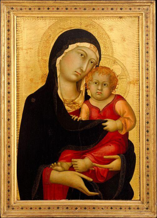 Симоне Мартини: Мадонна с младенцем, ок. 1326 год. \ Фото: pinterest.com.