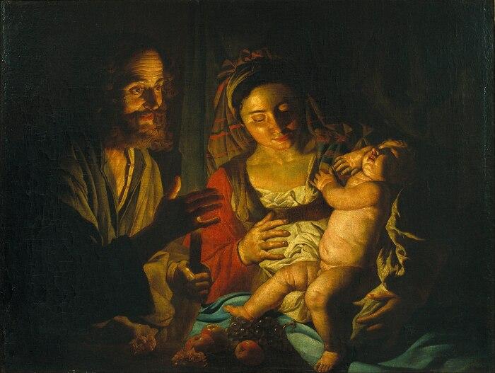 Маттиас Стом: Святое Семейство. \ Фото: laurabenedict.com.