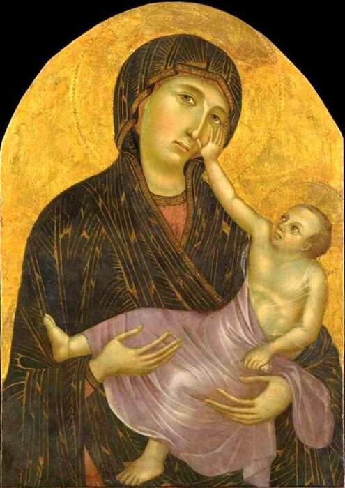 Чимабуэ: Мадонна с младенцем, 1283-1284 гг. \ Фото: allpainters.ru.