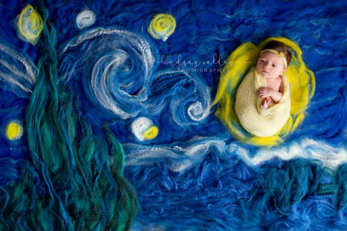 Вдохновением для этого снимка стала картина нидерландского художника Винсента Ван Гога «Звездная ночь». Автор фото: Линдси Уолден (Lindsay Walden).