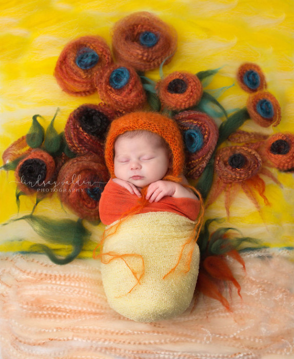 По мотивам Винсента Ван Гога «Ваза с 15 подсолнухами». Автор фото: Линдси Уолден (Lindsay Walden).