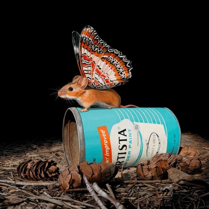 Окрылённая мышь. Автор: Lisa Ericson.