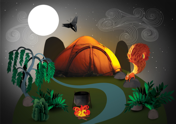 Ночь в лесу. Автор: Lisa Lloyd.