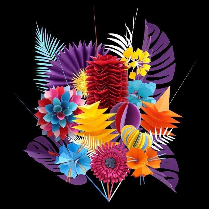 Цветочный букет. Автор: Lisa Lloyd.