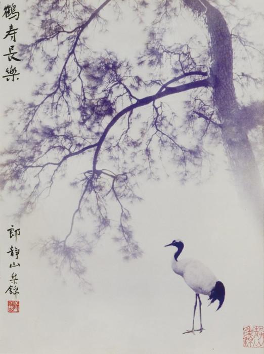 Журавль и сосна. Автор: Long Chingsan.