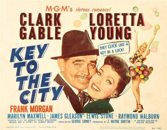 Легенда экрана - актриса Лоретта Янг (Loretta Young) и обольстительный Кларк Гейбл.