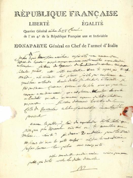Письмо Наполеона. / Фото: dw.com.