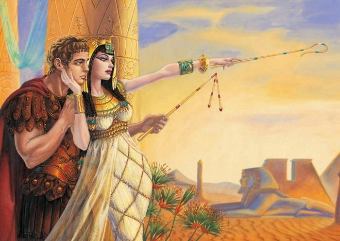 Клеопатра и Цезарь. \ Фото: pociopocio.altervista.org.
