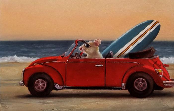Поездка на пляж. Автор: Lucia Heffernan.