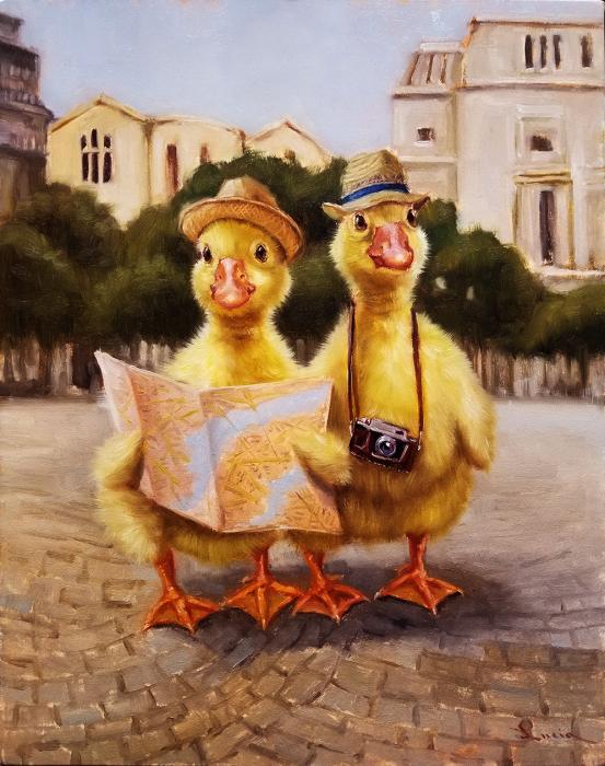 Туристы. Автор: Lucia Heffernan.