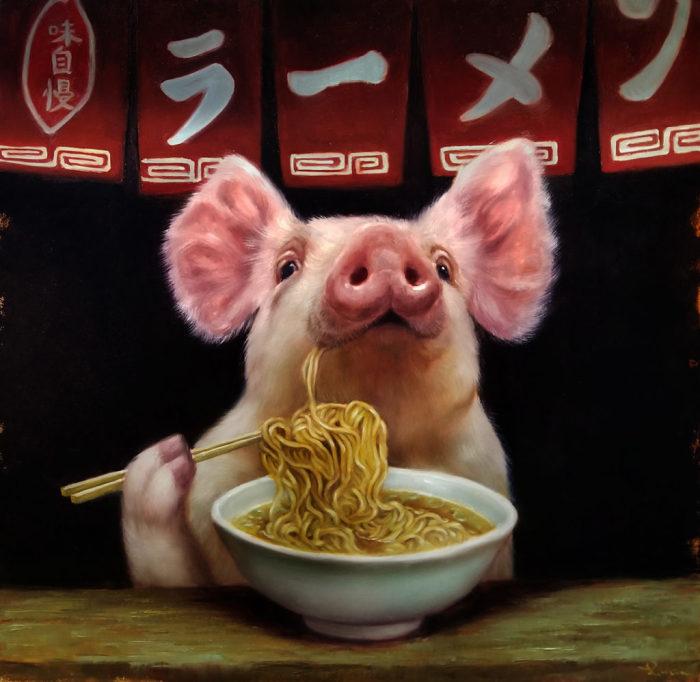 Китайская лапша. Автор: Lucia Heffernan.