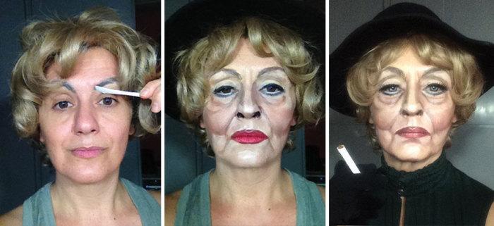 Бетт Дэвис в фильме «Возвращение с ведьминой горы». Автор:  Lucia Pittalis.