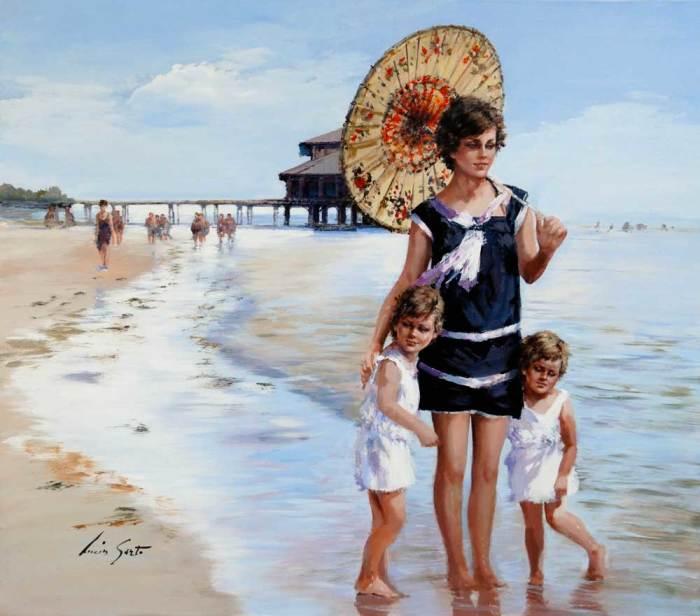 На пляже. Автор: Lucia Sarto.