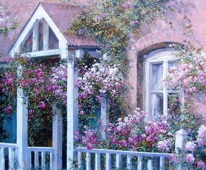 Цветущий сад. Автор: Lucia Sarto.