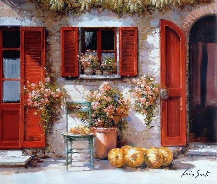 Во дворе. Автор: Lucia Sarto.