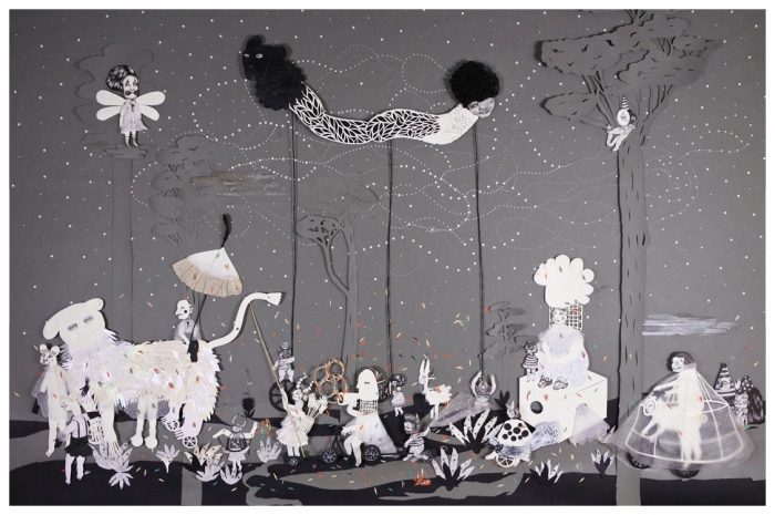 Многогранные бумажные работы Люсилы Бискионе. \ Фото: usaartnews.com.