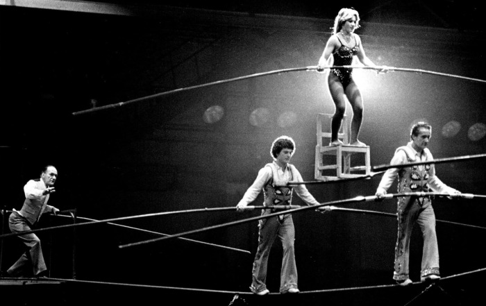 Семья циркачей Валленда. \ Фото: startribune.com.