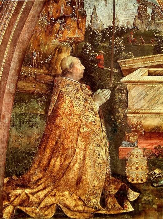 Папа Александр VI, Бернардино ди Бетто (Пинтуриккьо), 1492-95 гг. \ Фото: commons.wikimedia.org.