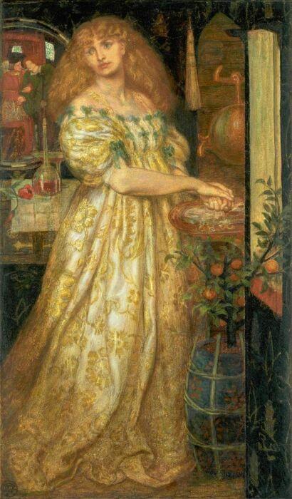 Лукреция Борджиа, Данте Габриэль Россетти, ок. 1860—1861 гг. \ Фото: liveinternet.ru.