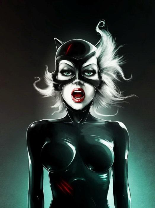 Женщина-кошка. Автор: Lukas Brezak.