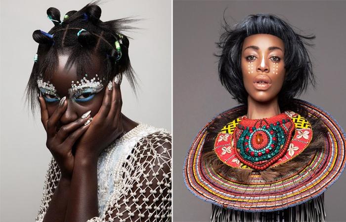 Экзотические причёски. Автор: Lisa Farrall.