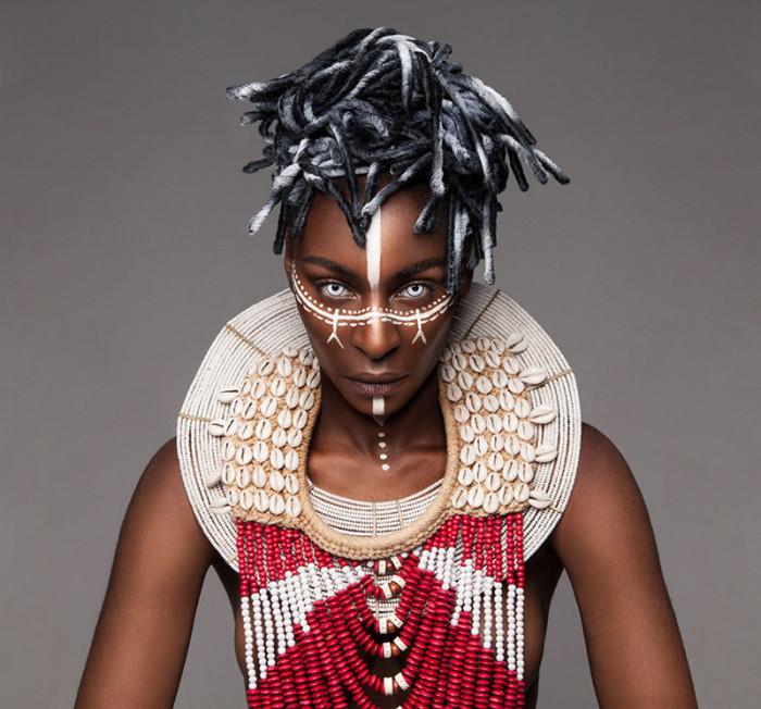 Необычные африканские причёски. Автор: Lisa Farrall.