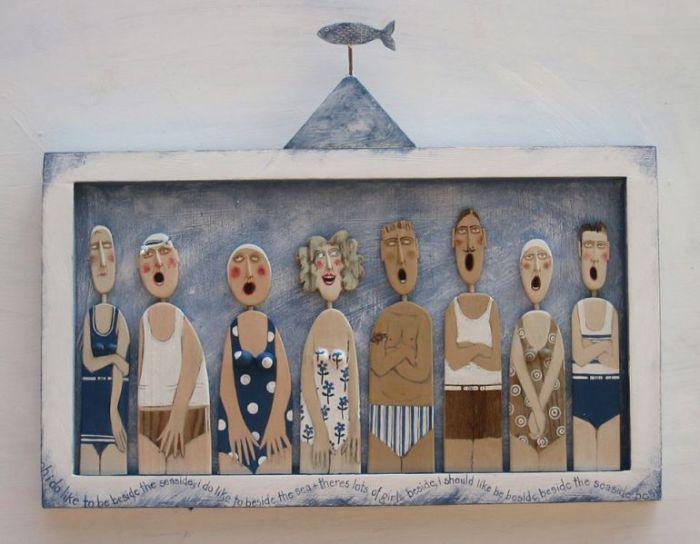 Деревянные человечки от Линн Муир (Lynn Muir).