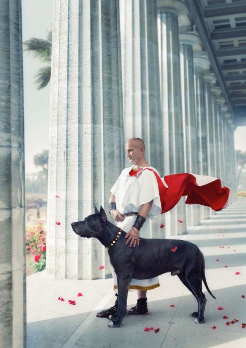 Понтий Пилат в белом плаще с кровавым подбоем. Мастер и Маргарита от Ретроателье и Елены Черненко.