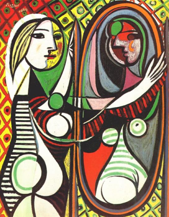Девушка перед зеркалом, 1932 год, Пикассо. \ Фото: pinterest.com.au.