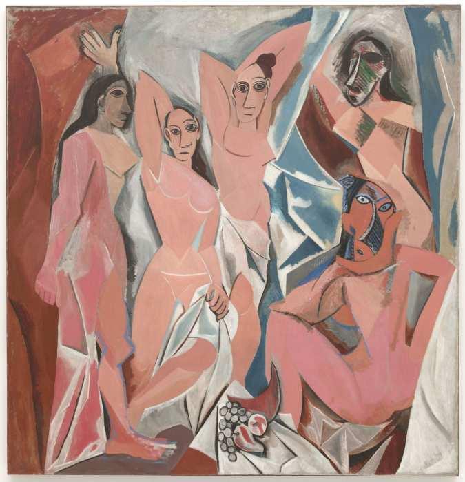 Авиньонские девицы, 1907 год, Пикассо. \ Фото: poleconvention.com.