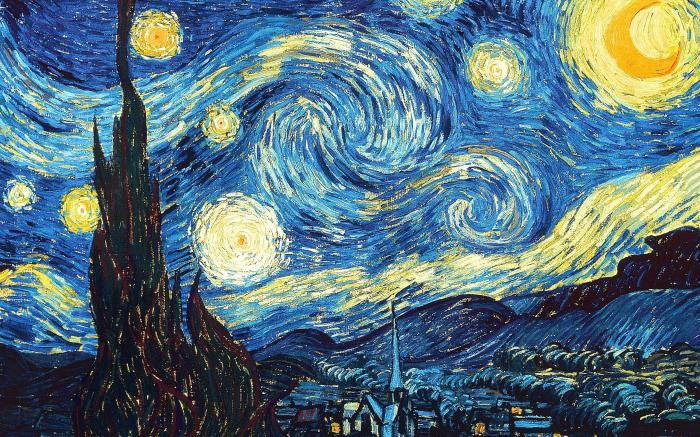 Звёздная ночь, 1889 год, Ван Гог. \ Фото: zhihu.com.