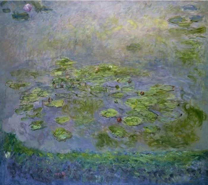 Одна из картин из серии Водяные лилии. Автор: Клод Моне.  Фото: learnodo-newtonic.com.