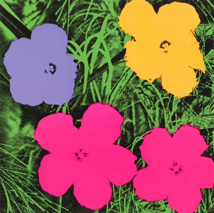 Цветы. Автор: Энди Уорхол. \ Фото: gardencollage.com.
