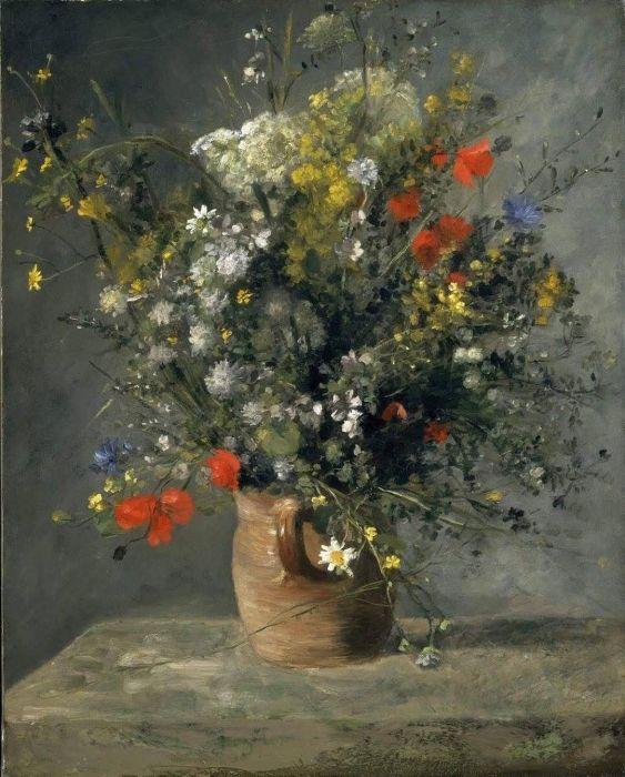 Цветы в вазе. Автор: Пьер Огюст Ренуар.  Фото: pinterest.com.