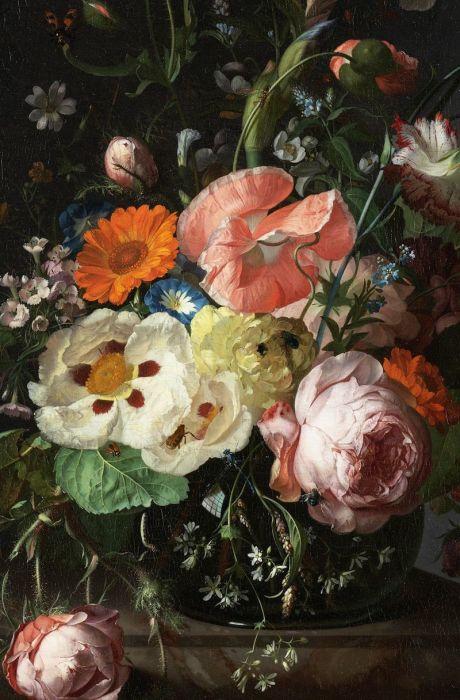 Натюрморт с цветами на мраморной плите. Автор: Рейчел Райш. \ Фото: pinterest.com.