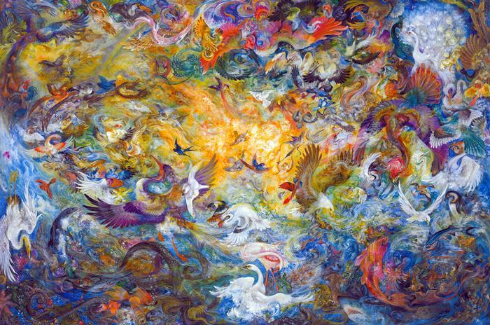 Пятый день творения, 1990 год. Автор: Mahmoud Farshchian.