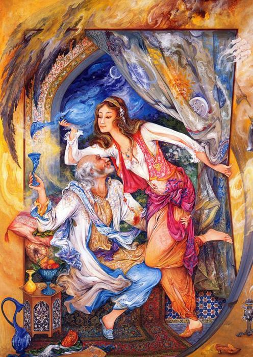 В ловушке, 1998 год. Автор: Mahmoud Farshchian.